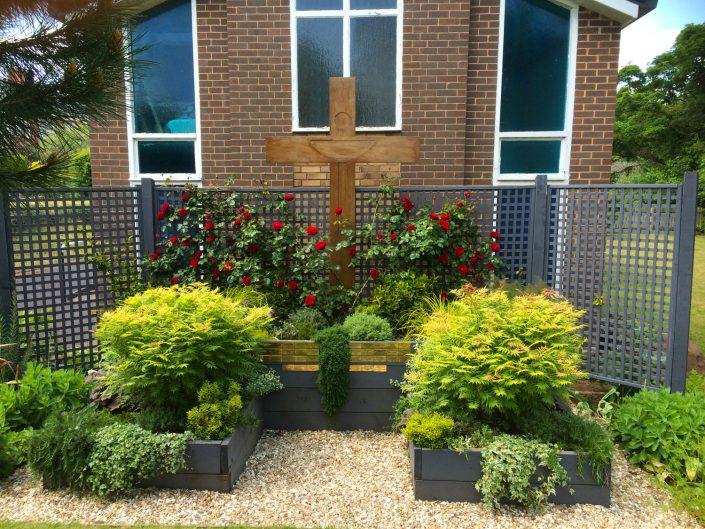 Memorial Garden, St James Church, Tiverton, Devon